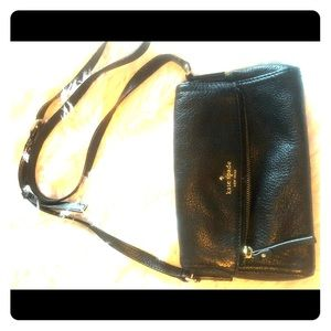 Kate Spade Crossbody black leather bag